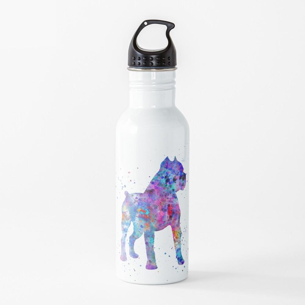 Cane Corso, Cane Corso dog, watercolor Cane Corso Water Bottle