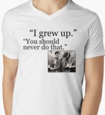 I Grew Up Men's V-Neck T-Shirt
