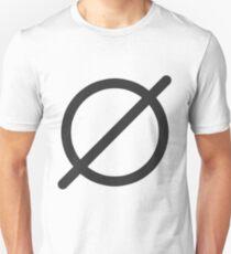Camiseta unisex Null Set (Dark)