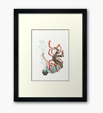 Burdened - sinking swimming ribbon  Framed Print