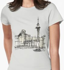 Auckland Silhouette Womens Fitted T-Shirt