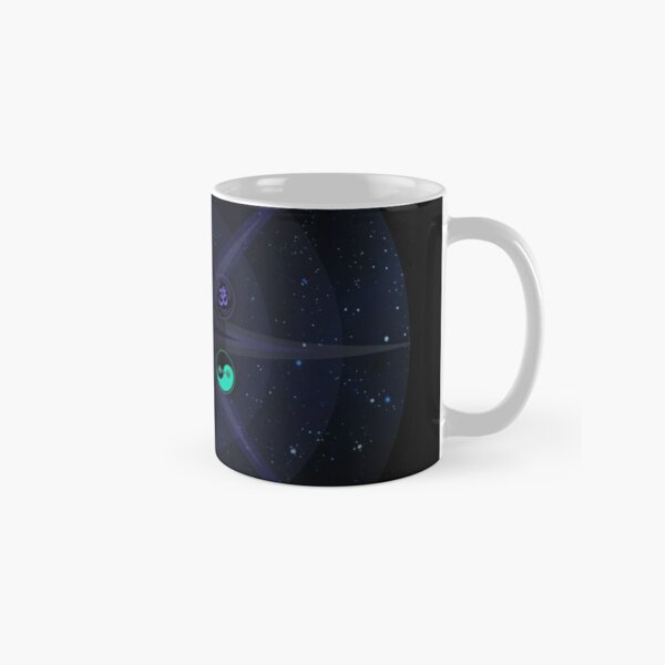 Stars with Colored Universal Principles of Alchemy Symbols Classic Mug