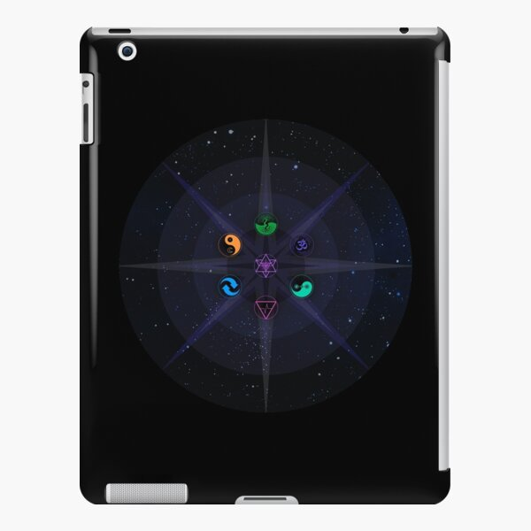 Stars with Colored Universal Principles of Alchemy Symbols iPad Snap Case