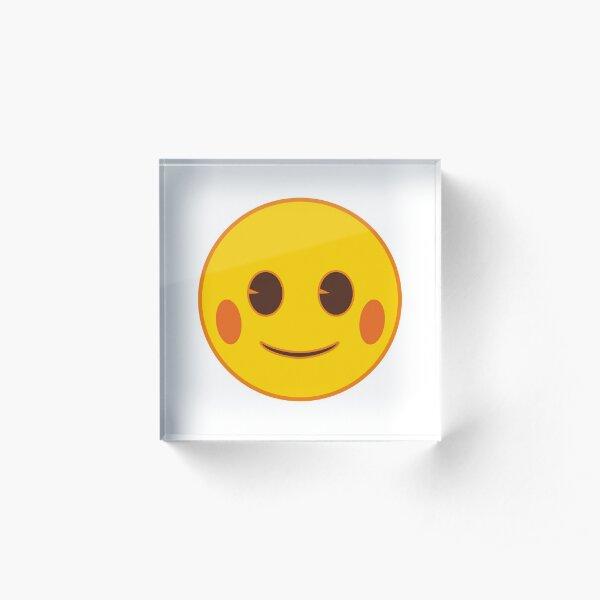 Smiling Face Emoji Acrylic Block