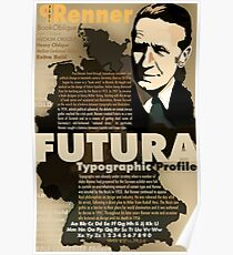 Paul Renner Futura Typography Poster