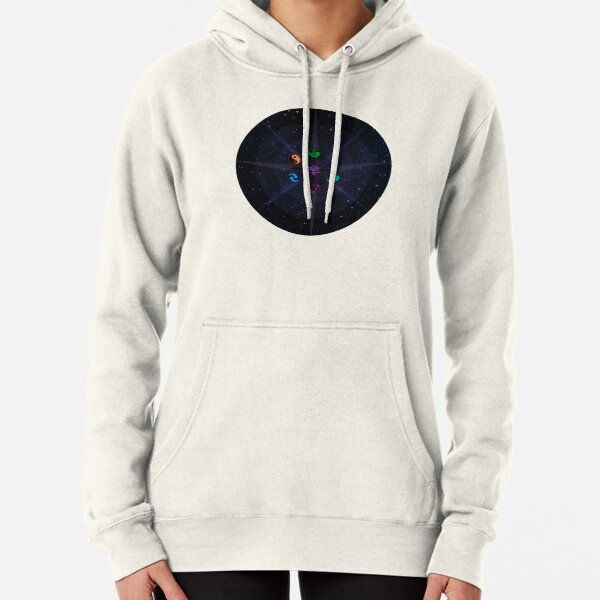 Stars with Colored Universal Principles of Alchemy Symbols Pullover Hoodie