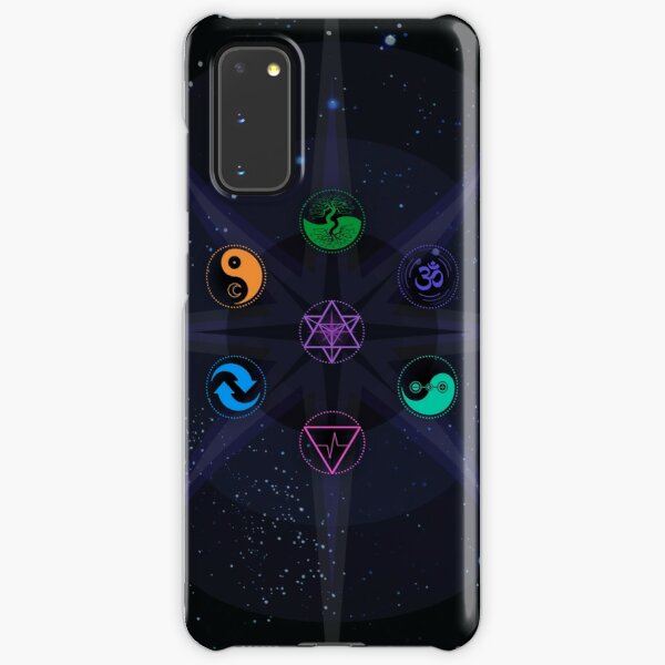 Stars with Colored Universal Principles of Alchemy Symbols Samsung Galaxy Snap Case