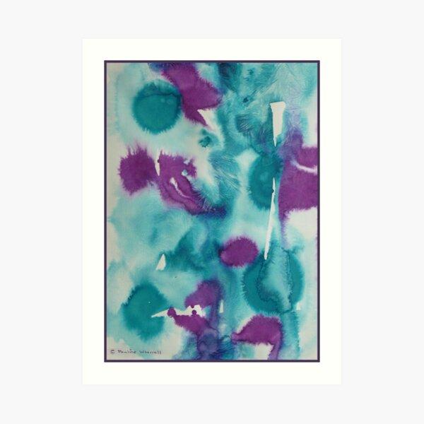 Abstract irises Art Print