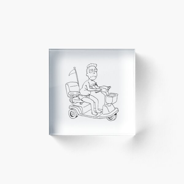Jerry Smith the actor (C-500A) - Rick and morty fan art Acrylic Block