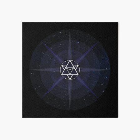 Stars with White Startetrahedron / Merkaba Symbol Art Board Print