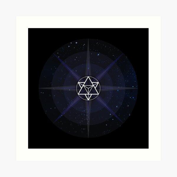 Stars with White Startetrahedron / Merkaba Symbol Art Print