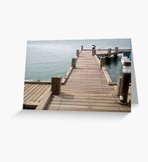 """Aruba Boat Dock""  by Carter L. Shepard Greeting Card"
