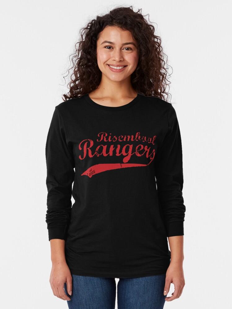 Alternate view of Risembool Ranger Softball Design Long Sleeve T-Shirt