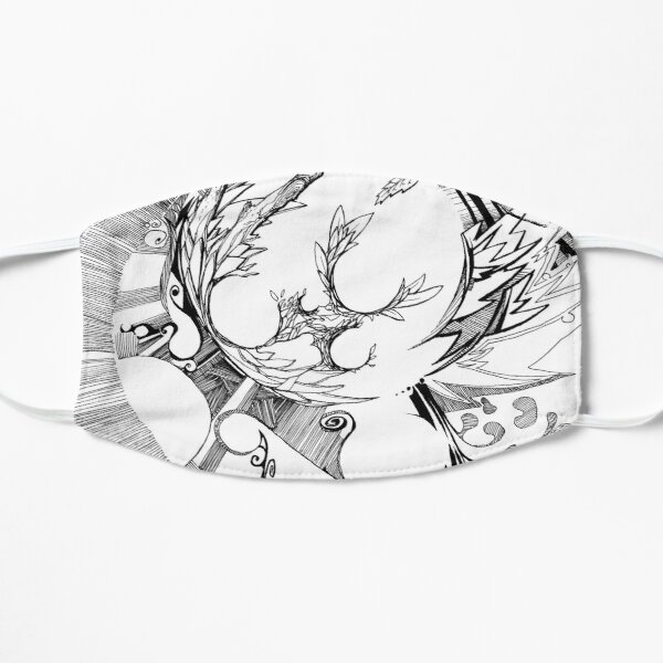 The Wobbly Triangulation Theory - Pen & Ink Illustration Art Mask