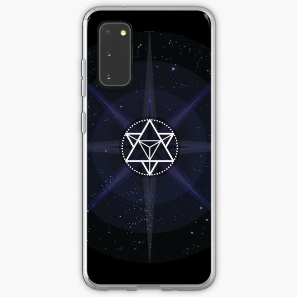 Stars with White Startetrahedron / Merkaba Symbol Samsung Galaxy Soft Case
