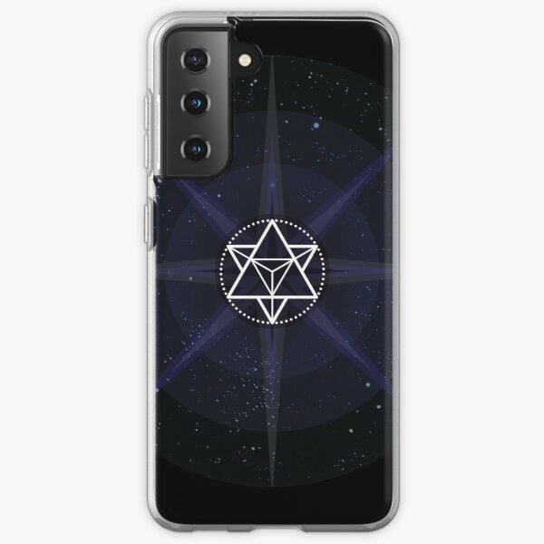Stars with White Startetrahedron / Merkaba Symbol Samsung Galaxy Soft Case