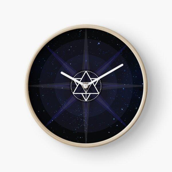 Stars with White Startetrahedron / Merkaba Symbol Clock
