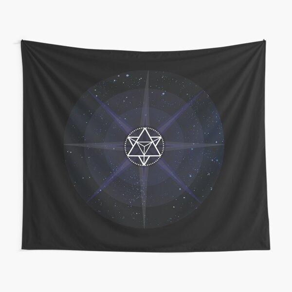 Stars with White Startetrahedron / Merkaba Symbol Tapestry