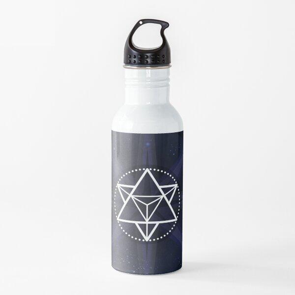 Stars with White Startetrahedron / Merkaba Symbol Water Bottle