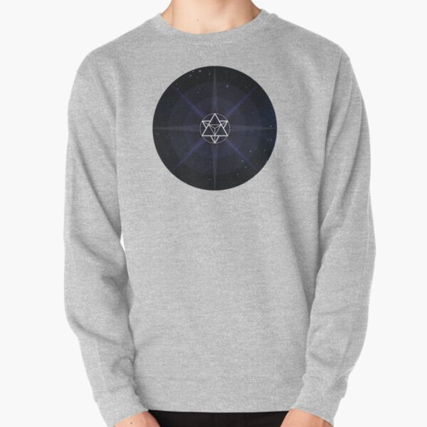 Stars with White Startetrahedron / Merkaba Symbol Pullover Sweatshirt