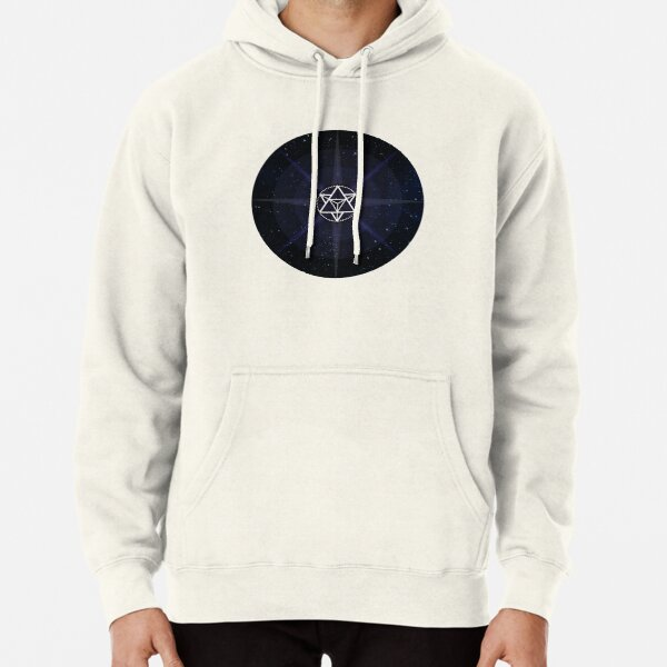 Stars with White Startetrahedron / Merkaba Symbol Pullover Hoodie