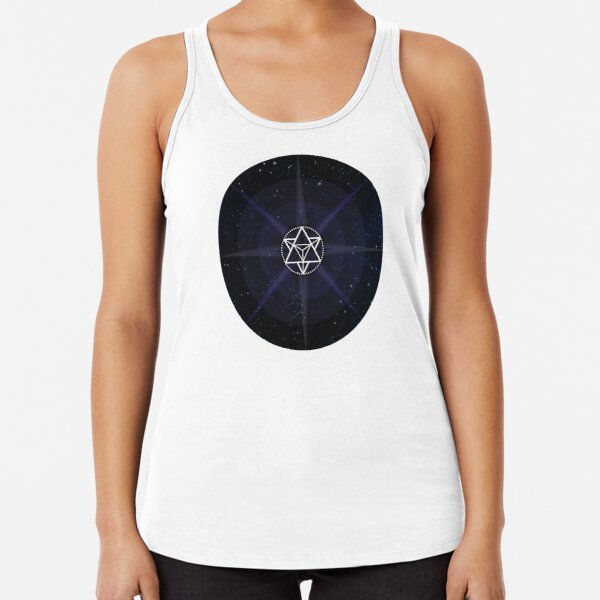 Stars with White Startetrahedron / Merkaba Symbol Racerback Tank Top