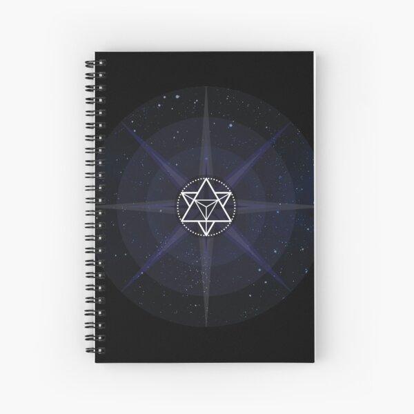 Stars with White Startetrahedron / Merkaba Symbol Spiral Notebook