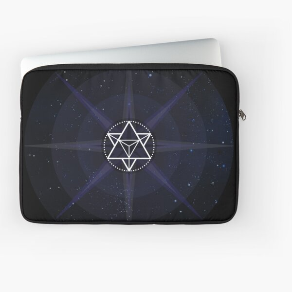 Stars with White Startetrahedron / Merkaba Symbol Laptop Sleeve