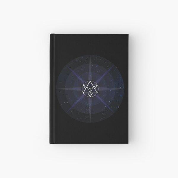 Stars with White Startetrahedron / Merkaba Symbol Hardcover Journal