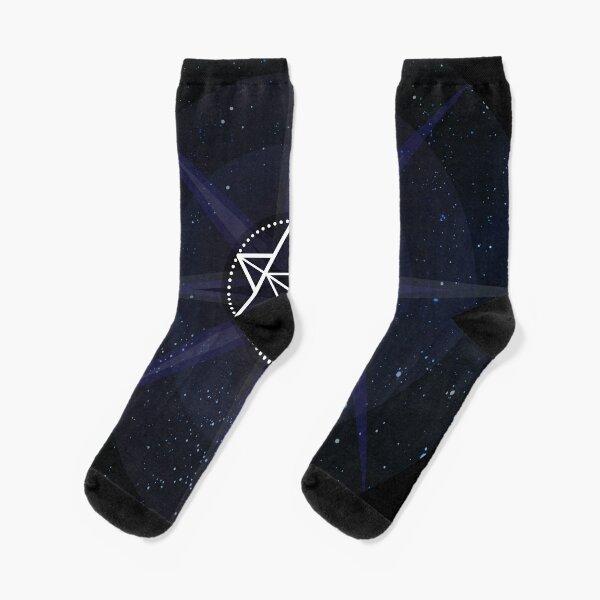 Stars with White Startetrahedron / Merkaba Symbol Socks