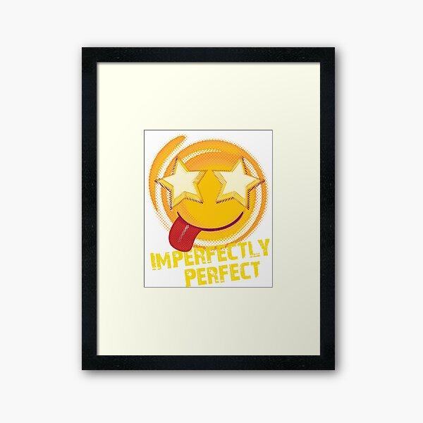 Raster Emoji - Imperfectly Perfect Framed Art Print