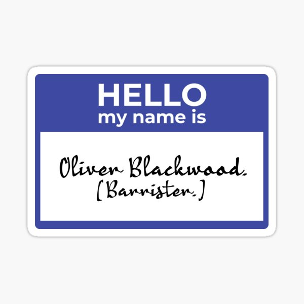 Hello My Name Is (Oliver) Sticker