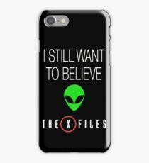 X-File Still Want To Believe Alien Head iPhone Case/Skin