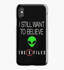 X-File Still Want To Believe Alien Head iPhone Case/Skin