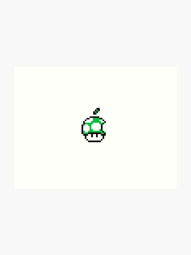 1up Apple Logo | Art Print