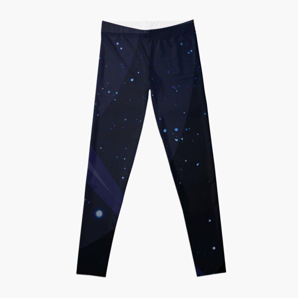 Stars with White Om Sound Symbol Leggings