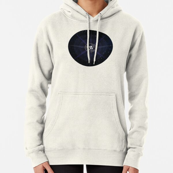 Stars with White Om Sound Symbol Pullover Hoodie