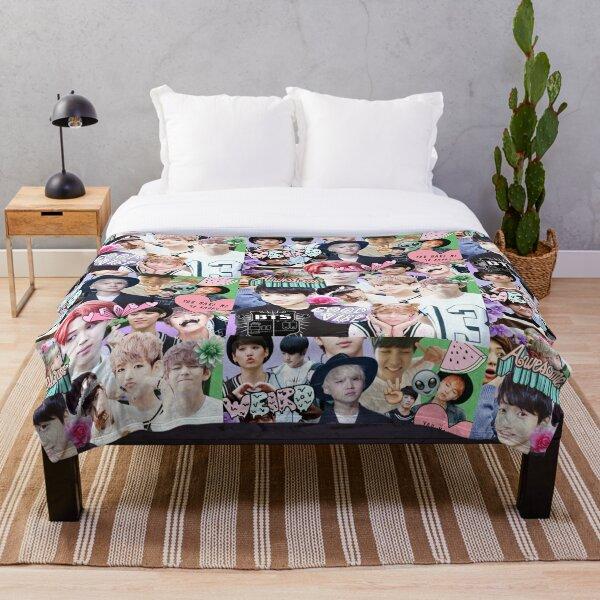 kpop collage Throw Blanket