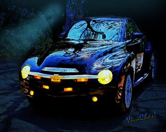 Hallow Weenie Chevy SSR Decorated for Halloween by ChasSinklier