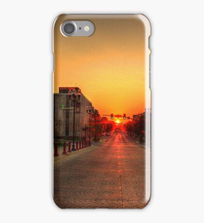 Sunrise on East Main iPhone Case/Skin