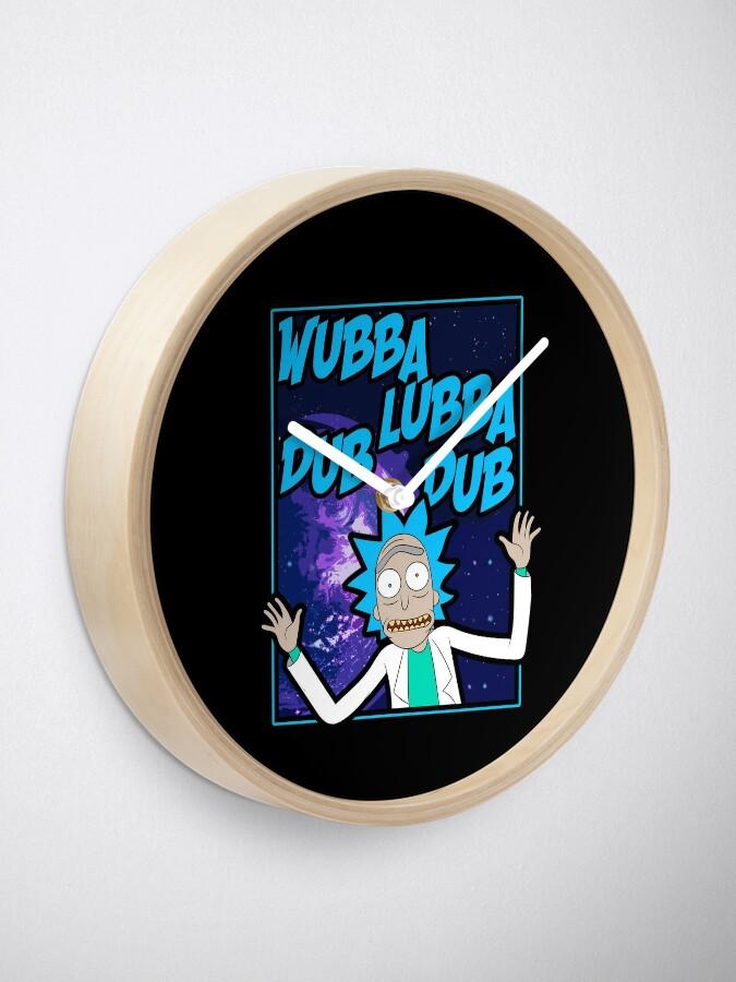 Alternate view of Rick Sanchez Wubba Lubba Dub Dub Quote Clock