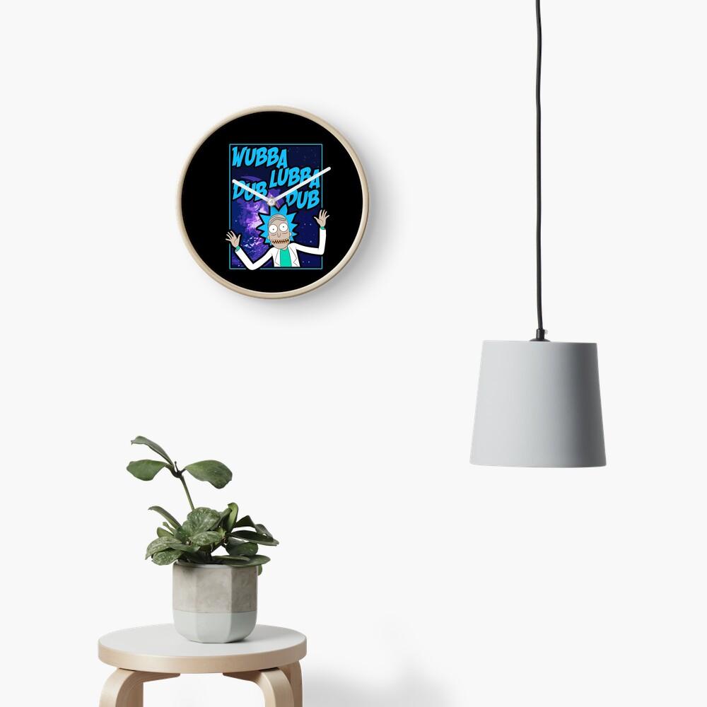 Rick Sanchez Wubba Lubba Dub Dub Quote Clock