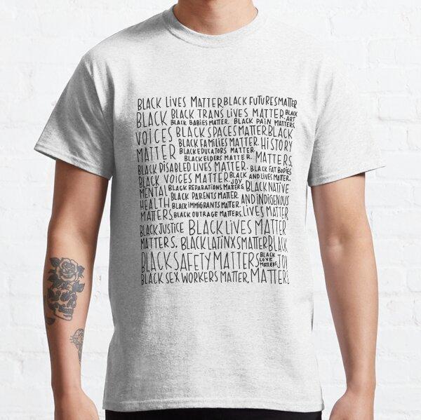 Intersectional Black Lives Matter Art Classic T-Shirt