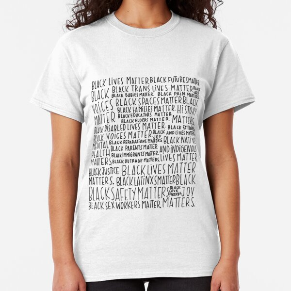 Intersectional Black Lives Matter Art Classic T-Shirt