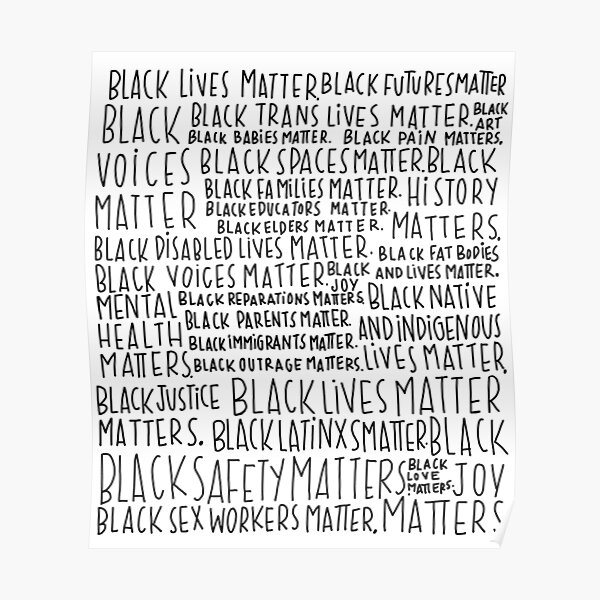 zu drucken. Bitte beachten Sie, dass ALLE Verkaufserlöse an einen Pro-Black gespendet werden Poster