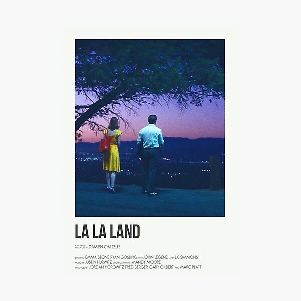 la la land poster  Photographic Print