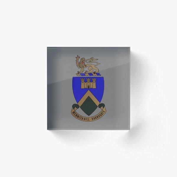 RAF Menwith Hill Crest Acrylic Block