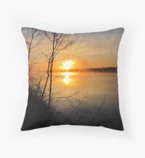 Sunrise on the Miramichi River Throw Pillow