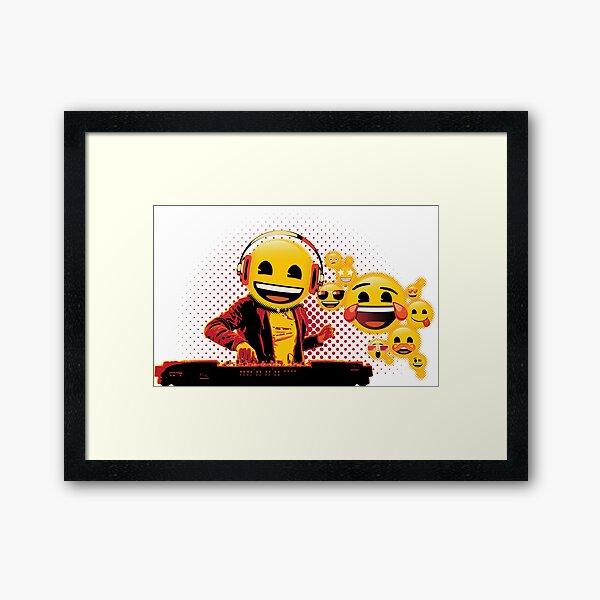 Party with DJ Emoji Framed Art Print