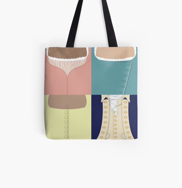 Schuyler Sisters and Alexander All Over Print Tote Bag